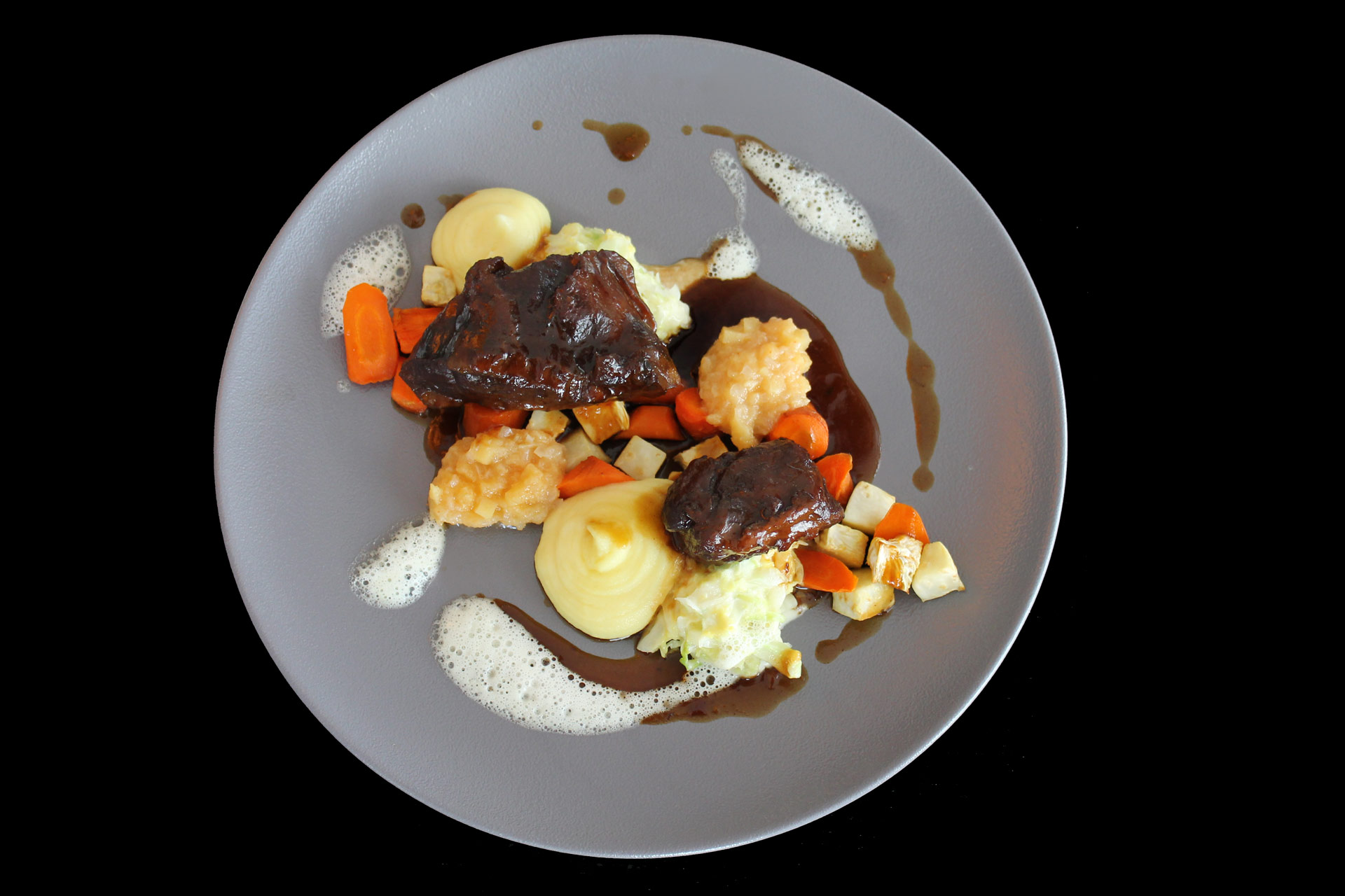 Geschmorte-Kalbsbacke Restaurant Friedrichs